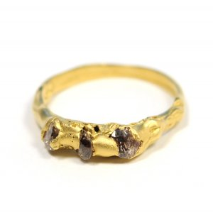 Cave 3 Stone Treasure Ring