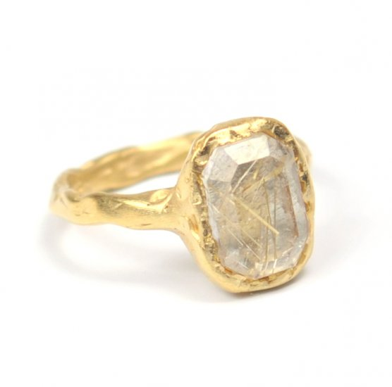 Cave Single Stone Treasure Ring RW68 Ruth Wood Contemporary