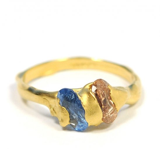 Cave 2 Stone Treasure Ring - Click Image to Close