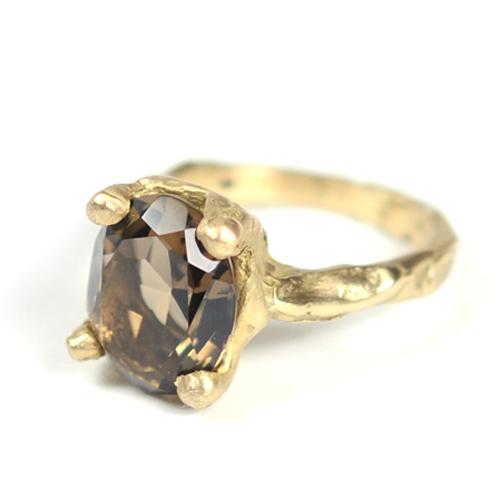 Cave Single Stone Treasure Ring RW32 Ruth Wood Contemporary